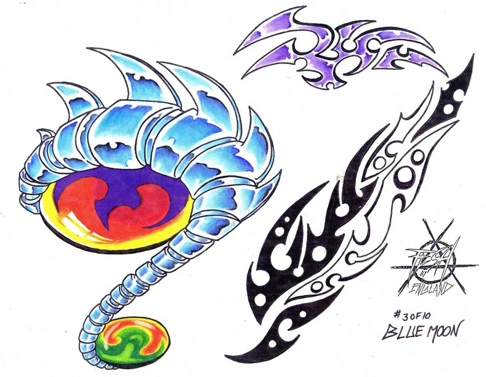 Tattoo designs. Sheet 386. Tattoo flash by Blue Moon.