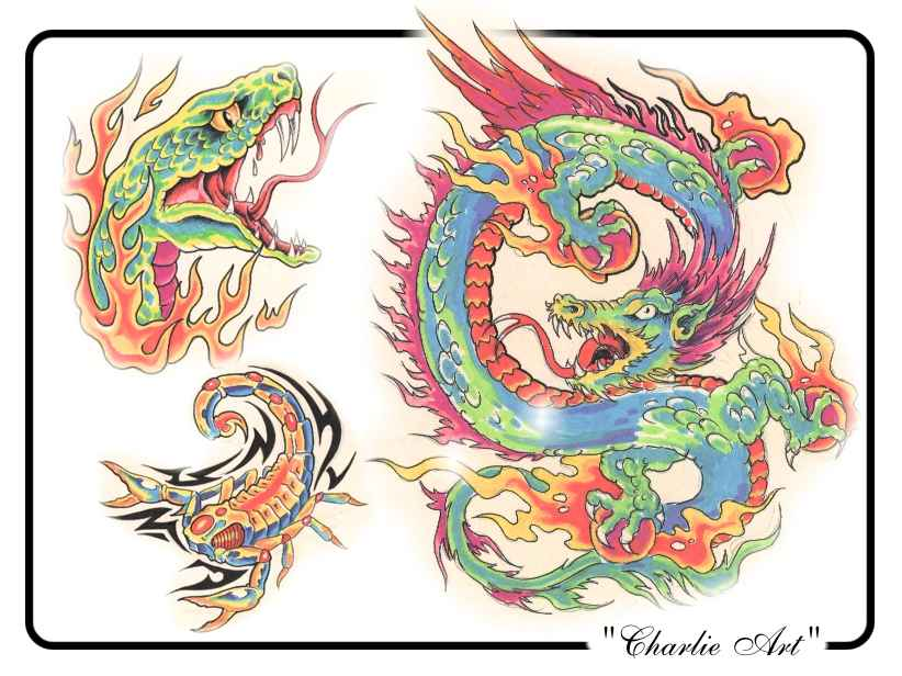 tattoo designs by Charlie Art