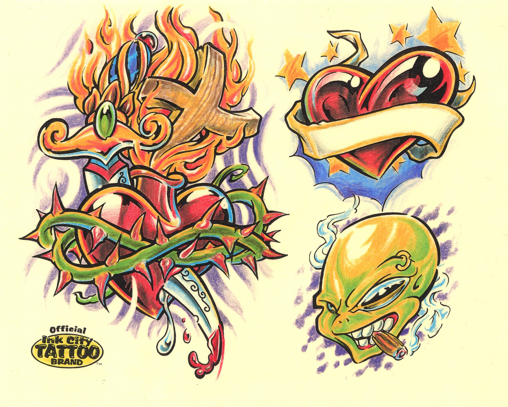 Tattoo designs by Ink City.