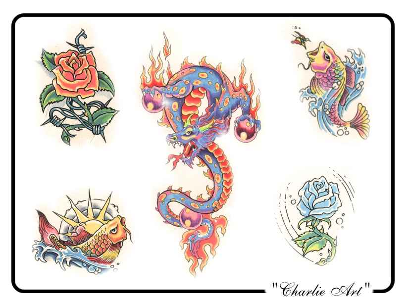 Tattoo designs by Charlie Art.