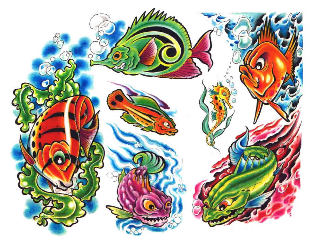 Fish tattoo designs by Atomic.