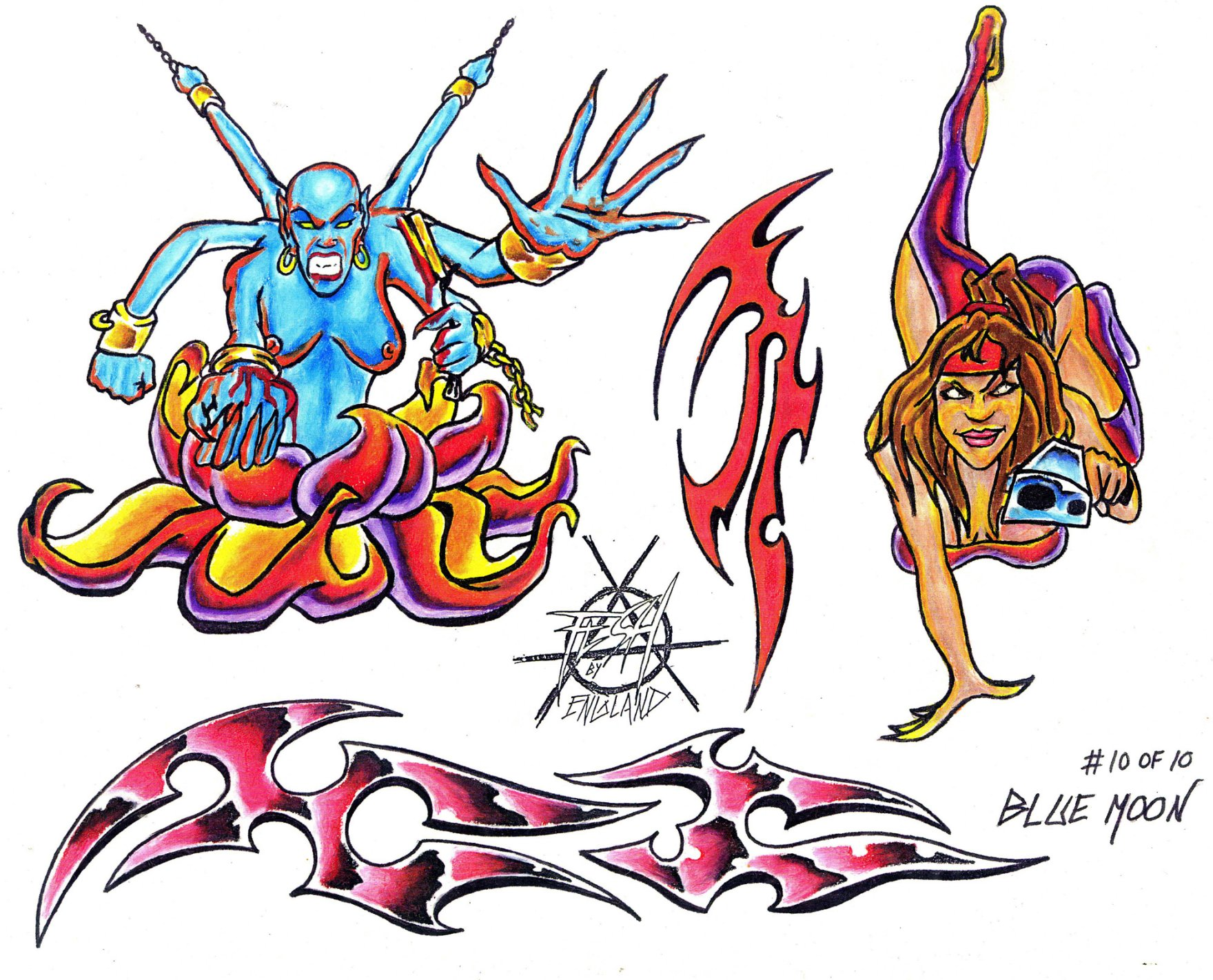 Tattoo designs by Blue Moon.
