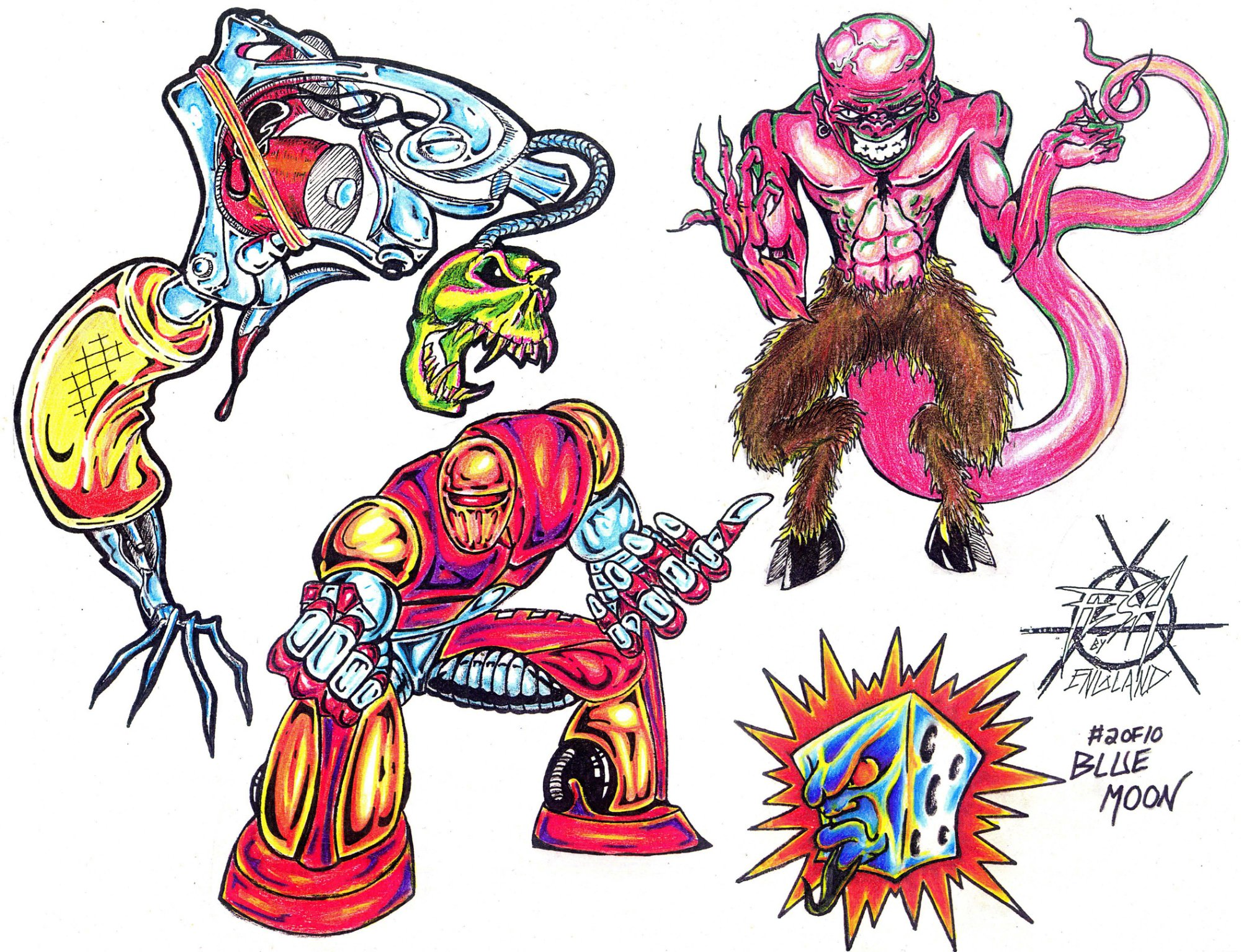 Monster tattoo designs by Blue Moon