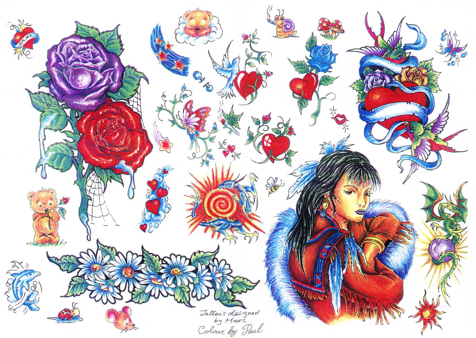 Tattoo designs by Marc.