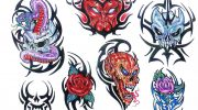 Skull tattoo designs by Marc.