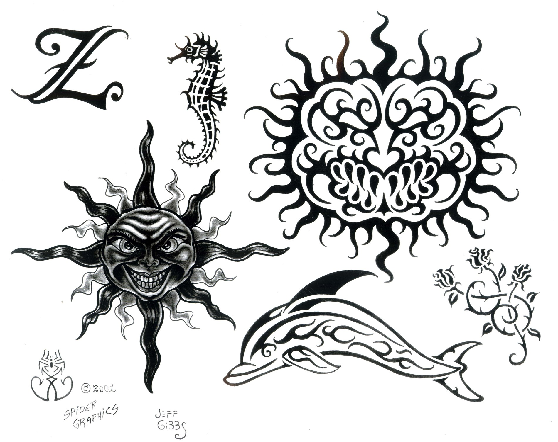 Tattoo designs by Jeff Gibbs.