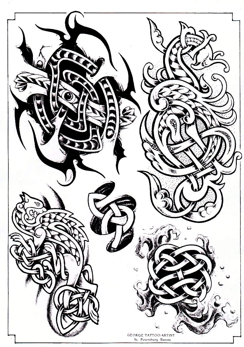 Tattoo designs by George.