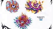 Tattoo designs by Roberto Cruz.